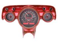 Classic Tri-Five Parts Online Catalog - Dakota Digital - VHX Series Gauges Carbon Fiber Red