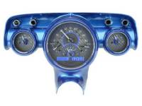 Classic Tri-Five Parts Online Catalog - Dakota Digital - VHX Series Gauges Carbon Fiber Blue