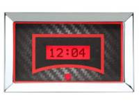 Classic Tri-Five Parts Online Catalog - Dakota Digital - VHX Series Gauges Clock Carbon Fiber Red