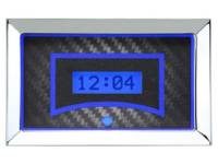 Classic Tri-Five Parts Online Catalog - Dakota Digital - VHX Series Gauges Clock Carbon Fiber Blue