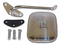 Outside Mirror Parts - Outside Mirror Kits - H&H Classic Parts - Square Mirror Kit LH Chrome