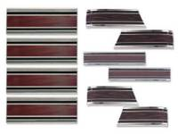 Side Moldings - 1969-72 Moldings - H&H Classic Parts - Complete Lower Side Molding Kit with Woodgrain