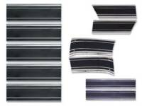 Side Moldings - 1969-72 Moldings - H&H Classic Parts - Complete Lower Side Molding Kit with Black