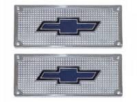 Sill Plates - Step Plates - H&H Classic Parts - Aluminum Bowtie Step Plates