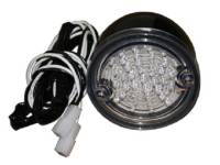 United Pacific - LED Clear LED Taillight Assembly (Black)