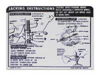 Decals - Jack Instruction Decals - Jim Osborn Reproductions - Jack Instructions