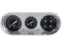 Dash Parts - Classic Instrument Gauge Kits - Classic Instruments - Gauge Kit Black/White