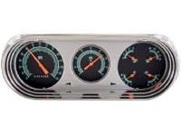 Classic Instrument Gauge Kits - 1963-65 Gauge Kits - Classic Instruments - Classic Instruments Gauge Kit Black/Green/Orange