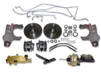 Brake Parts - Disc Brake Conversion Kits - H&H Classic Parts - Disc Brake Conversion Kit with Power Disc Brakes & Drop SPindles