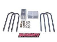 "Suspension Parts - Springs - McGaughy's Suspension - 3"" Rear Lowering Blocks with U-Bolts"