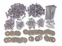 Bed Wood Parts - Bed Bolt Kits - H&H Classic Parts - Polished Stainless Steel Bed Bolt Kit for Wood Floors