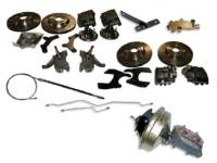 "Brake Parts - Disc Brake Conversion Kits - H&H Classic Parts - Disc Brake Conversion Kit (13"" Cross Drilled Rotors)"