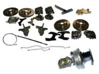 "Brake Parts - Disc Brake Conversion Kits - H&H Classic Parts - Disc Brake Conversion Kit (13"" Cross Drilled Rotors)"
