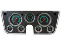 Dash Parts - Classic Instrument Gauge Kits - Classic Instruments - Classic Instrument Gauge Kit Black/Green/Orange