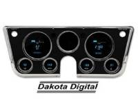 Dash Parts - Dakota Digital Dash Assemblies - Dakota Digital - Dakota Digital Gauge System with CLock