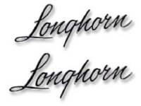 Truck - Trim Parts - Bed Side Emblems Longhorn