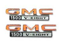 Emblems - Fender Emblems - Trim Parts - Fender Emblems GMC 1500 V8