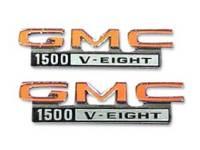 Emblems - Fender Emblems - Trim Parts USA - Fender Emblems GMC 1500 V8