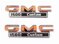Truck - Trim Parts - Fender Emblems GMC 1500 Custom