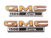 Emblems - Fender Emblems - Trim Parts - Fender Emblems GMC 1500 Sierra