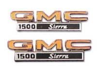 Emblems - Fender Emblems - H&H Classic Parts - Fender Emblems GMC 1500 Sierra