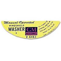 Classic Tri-Five Parts Online Catalog - Jim Osborn Reproductions - Windshield Washer Decal (Hand Operated)