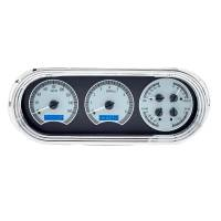 Dakota Digital Gauge Kits - Dakota Digital VHX Gauge Kits - Dakota Digital - VHX Series Silver Alloy Blue