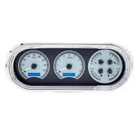 Dash Parts - Dakota Digital Gauges - Dakota Digital - VHX Series Silver Alloy Blue