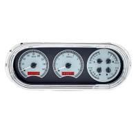 Dash Parts - Dakota Digital Gauges - Dakota Digital - VHX Series Silver Alloy Red