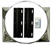 Radiator Parts - Fan Shrouds - DKM Mfg - Chrome Fan Shroud