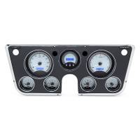 Dash Parts - Dakota Digital Dash Assemblies - Dakota Digital - VHX Series Silver Alloy Blue