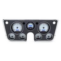 Dash Parts - Dakota Digital Dash Assemblies - Dakota Digital - VHX Series Silver Alloy Blue